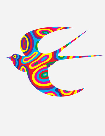 colorfully: Swallow abstract colorfully Illustration