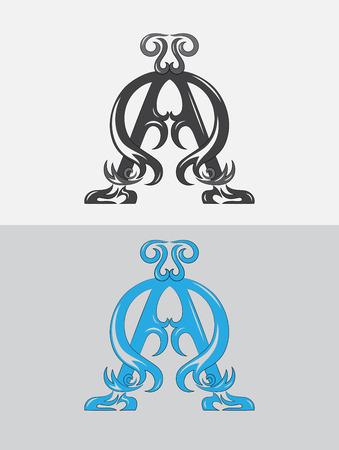 alpha: Alpha omega,Christian icon and symbol, art vector design