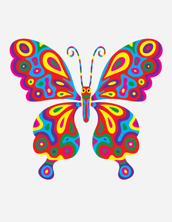 colorfully: Butterfly abstract colorfully, art vector illustration