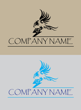 halcones: Logo vuelo del �guila, dise�o del arte del vector