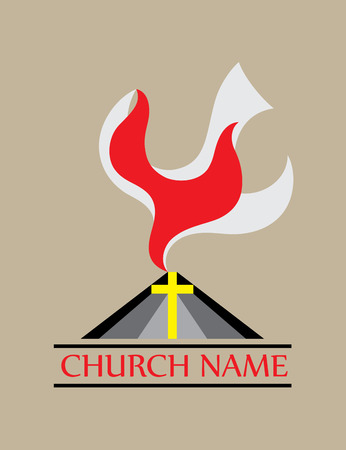 doves: Holyspirit church icon, art vector design Illustration