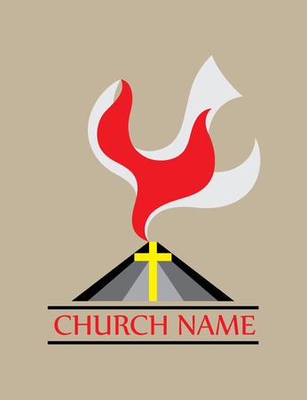 holy symbol: Icono de la iglesia Holyspirit, dise�o de arte vectorial Vectores