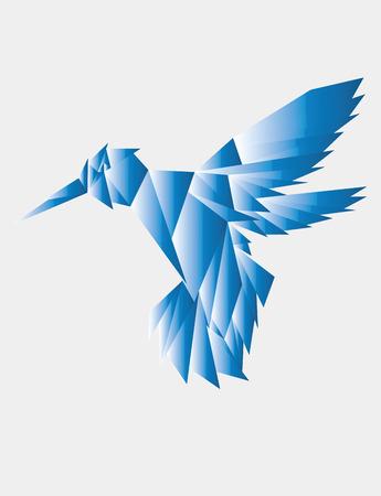 glas kunst: Neuriën rondvliegend glas, art vector ontwerp Stock Illustratie