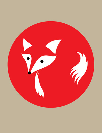 foxes: Head Fox art vector design