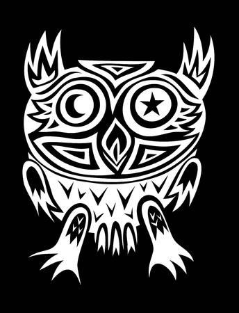Owl bird tribal art vector design Vector