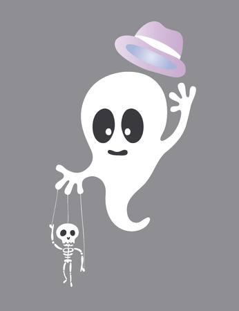 parody: Cute Little Ghost art vector design