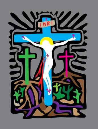 Golgotha art vector design