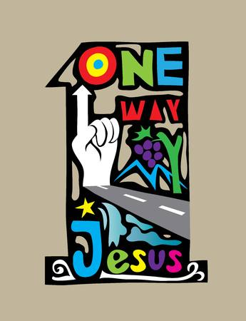 one way: One Way art vector design