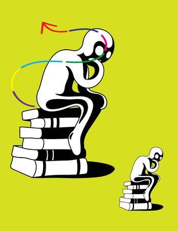 pensador: Pensador, diseño de arte vectorial