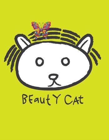 petshop: Beauty Cat, art vector design Illustration