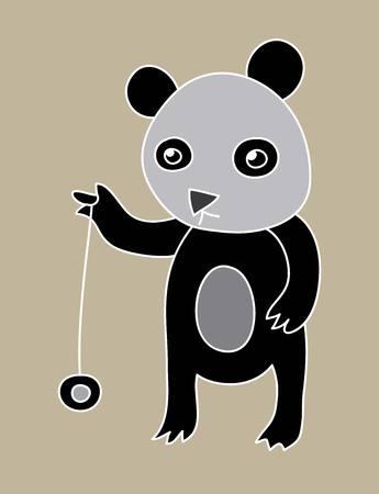 cute panda: Cute Panda, art vector design Illustration