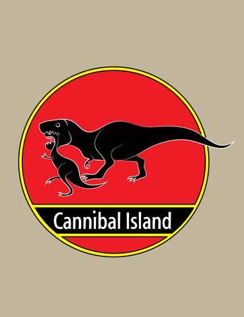 lost world: Cannibal island, art vector design Illustration