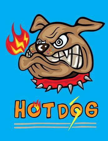 object with face: Dog Head Cartoon, art vector design Illustration