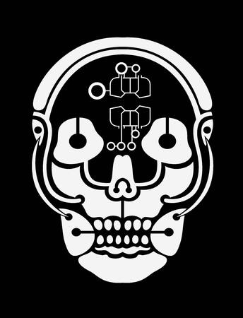 creative arts: Skull, art vector design