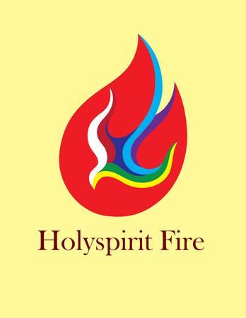 fogatas: Santo Logo esp�ritu fuego, dise�o del arte del vector