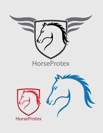 creative arts: Horse Head , art vector design Illustration