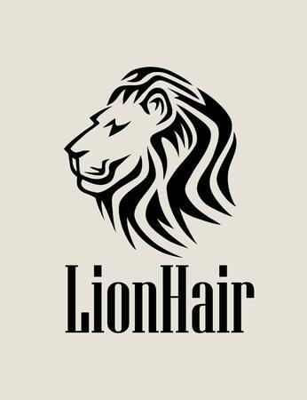 lion face: Lion Hair , art vector design