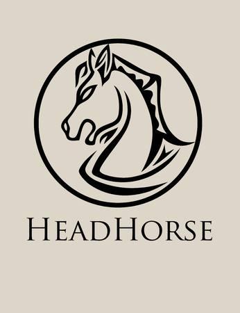 creative arts: Head Horse , art vector design Illustration