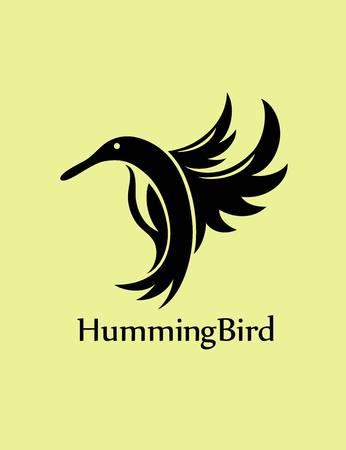 humming: Humming Bird  , art vector design Illustration