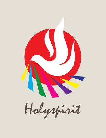 creative arts: Holyspirit Icon, art vector logo design Illustration