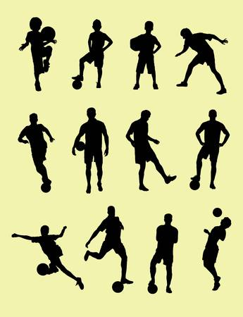 football silhouette: Football Silhouette collection, art vector design