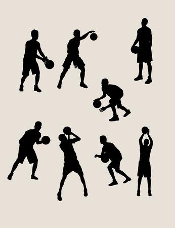 nba: Basketball Silhouettes, art vector design