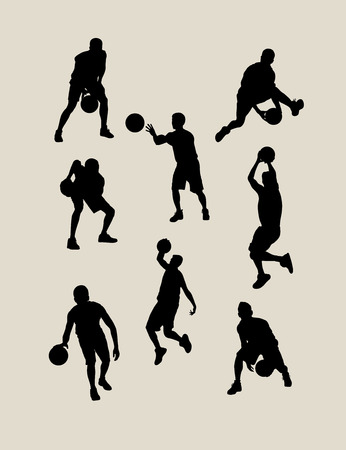 championships: Basketball Silhouettes, art vector design
