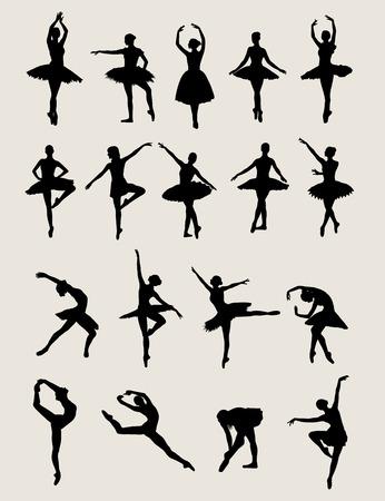 Sagome Ballerina, disegno di arte vettore Archivio Fotografico - 50939108