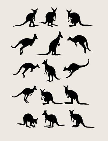 silhouettes: Kangaroo Silhouettes, art design