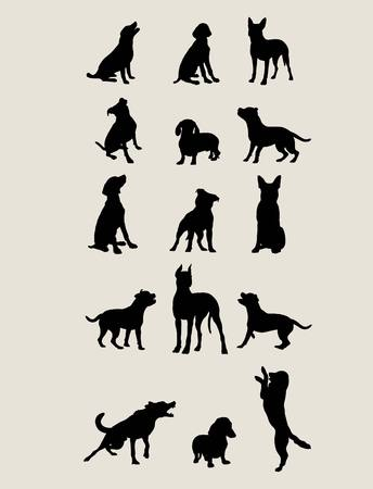 lapdog: Dog Silhouettes , art vector design