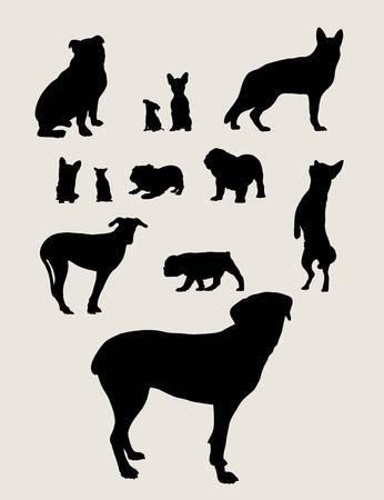 spitz: Dog Silhouettes, art vector design