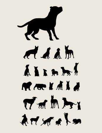 lapdog: Dog Set Silhouette, art vector design Illustration