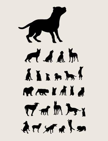 Perro silueta, diseño del arte del vector