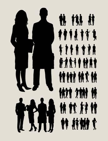 Hommes d'affaires Silhouettes, conception de vecteur d'art Banque d'images - 55007509