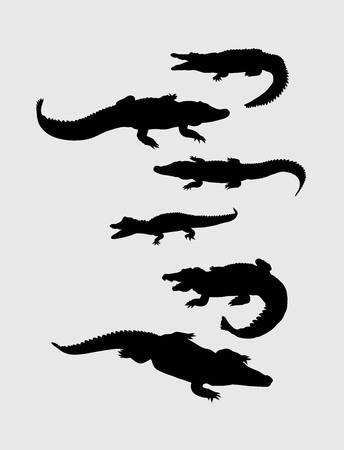starve: Crocodile Silhouettes, art vector design