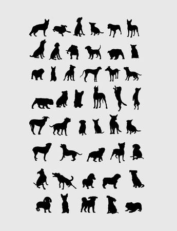 lapdog: Dog Collection Silhouettes, art vector design