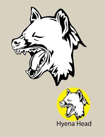 logo vector: Hyena Head Logo, art vector design