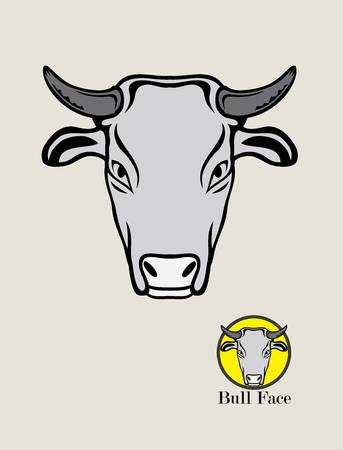 bullfight: Cow Head Logo, art vector design