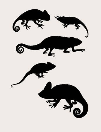 reptilian: Reptilian Silhouettes, art vector design