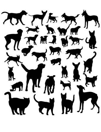 silhouettes: Animal Pets,  art silhouettes design