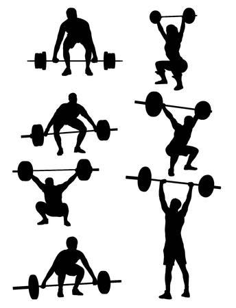 El levantador de pesas Siluetas, diseño de arte