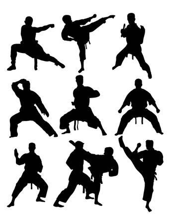 kyokushin: Kyokushin Karate Silhouettes Set, art design