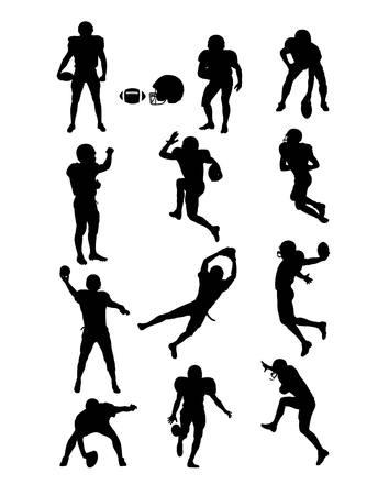 kickoff: American Football Silhouettes, art design Illustration