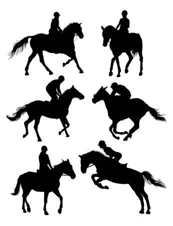 馬術スポーツ シルエット、アート デザイン