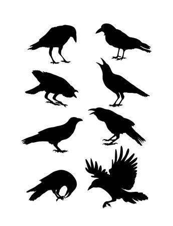 Black Crow Silhouetten, Kunst-Design