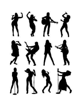 singer silhouette: Singer Silhouette