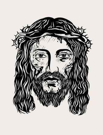 christus: Jesus Christ face, art design
