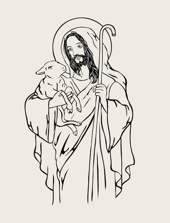 Good Shepherd, art design Illustration