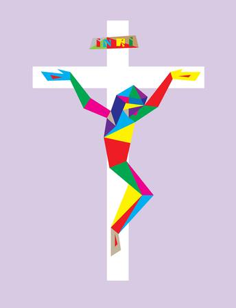 corpus: Christian Cross with Modern Corpus, illustration art design