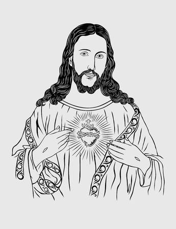 sacred heart: Sacred Heart of Jesus, art design